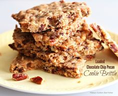 Loaded Chocolate Chip Pecan Cookie Brittle | Melissa's Southern Style Kitchen