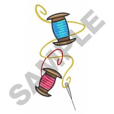 NEEDLE AND THREAD embroidery design