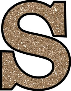 Glitter Without The Glue! Free Digital Printable Alphabet to Download: Glitter Letter S