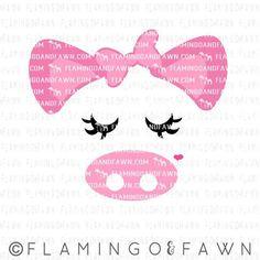 pig face svg show pig svg pig dxf farm svg wild animal Silhouette Cameo Projects, Kids Silhouette, Hobbies For Kids, Cute Pigs, Cricut Vinyl, Vinyl Decals, Cricut Creations, Monogram Fonts, Vinyl Projects