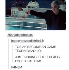 ...he works in the control room after all. Maybe he got a promotion. ~Divergent~ ~Insurgent~ ~Allegiant~