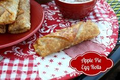 Mommy's Kitchen - Country Cooking & Family Friendly Recipes: Apple Pie Egg Rolls W/Caramel Dipping Sauce