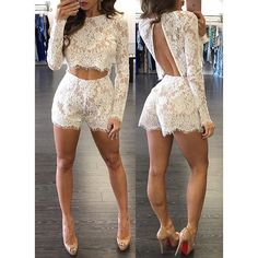 Jeanie Lace Short Set  also in black