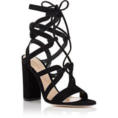 Gianvito Rossi Women's Lace-Up Gladiator Sandals (1,615 PEN) ❤ liked on Polyvore featuring shoes, sandals, laced up gladiator sandals, lace up high heel sandals, roman sandals, high heel shoes and laced sandals
