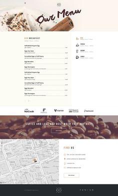 Bonjour Cafe - Responsive HTML5 Template on Behance