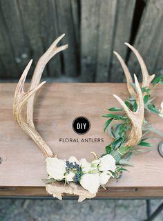 floral antlers DIY