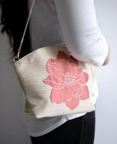 Flower season tassel shoulder bag. woman clutch by overdo on Etsy