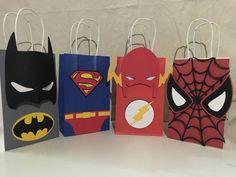 Avenger Superhero party favor bags 1 dozen by PartiesByDezzy Superhero Party Favors, Batman Party, Superhero Birthday Party, Boy Birthday, Avengers Birthday, Party Cups, Party Favor Bags, For Your Party, Held