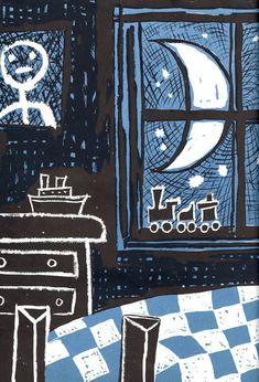 Maurice Sendak «The Giant Story» - Autor Beatrice Schenk de Regniers - Harper, 1953 - #mauricesendak #childrenbooks #illustration