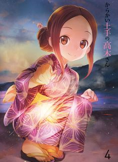Karakai Jouzu no Takagi-san Loli Kawaii, Kawaii Art, Kawaii Anime Girl, Anime Kimono, Lolis Anime, Anime Art, Anime Eyes, Anime Kunst, Girls Anime