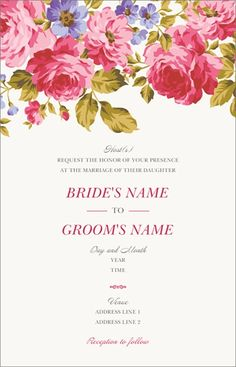 floral flower Luxury Wedding Invitations and Announcements