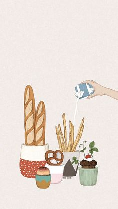 kawaii wallpaper - Food Group Bingo Nutrition Activity for Kids Cute Food Wallpaper, Wallpaper App, Trendy Wallpaper, Kawaii Wallpaper, Pastel Wallpaper, Cute Wallpapers, Photomontage, Cute Illustration, Food Art