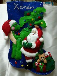 Santa and Dino for Xander