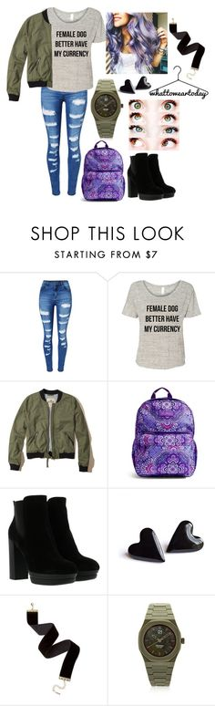 """""""Untitled #141"""" by abbi-jule ❤ liked on Polyvore featuring WithChic, Hollister Co., Vera Bradley, Hogan and d1 Milano"""