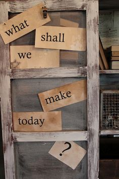 what shall we make today