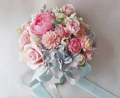Blue pink Wedding Day by Elena Doniy on Etsy