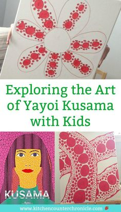The Queen of Polka Dots is a fascinating modern artist - Yayoi Kusama\'s story and artwork are inspiring for kids of all ages. Introduce your kids to Kusama and create a piece of polka dot art. #artforkids #yayoikusama #artproject #artprojectforkids #modernartforkids #polkadots #kusama