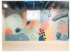 Playroom Mural, Kids Room Murals, Murals For Kids, Playroom Storage, Playroom Design, Bedroom Murals, Wall Murals, Attic Playroom, Basement Walls