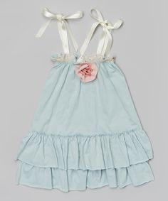 Look at this Victoria Kids Aqua Ruffle Halter Dress - Infant & Toddler on #zulily today!