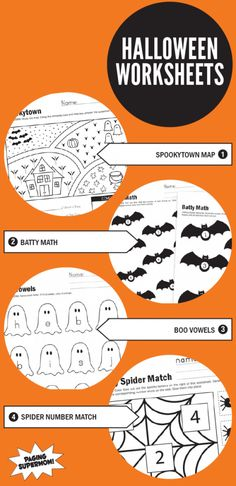 Free Printable Halloween Worksheets from PagingSupermom.com