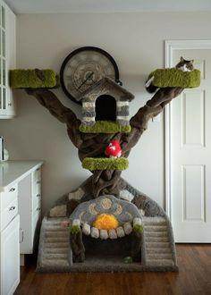 Cat Aesthetic, Aesthetic Room Decor, Cat Castle, Cat Tree House, Diy Cat Tree, Cat Towers, Animal Room, Cat Room, Pet Furniture
