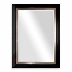 Biltmore 47-Inch x 35-Inch Wooden Veneer Mirror in Silver - BedBathandBeyond.ca $90