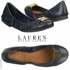 NWB LAUREN RALPH LAUREN Women's Betty Flats Fashion Leather Stylish Shoes # LaurenRalphLauren #BalletFlats