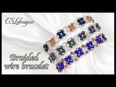 In this tutorial I show you how to make a 'Fancy braided wirework bracelet' using a four strand braid structure. We then add small beads into the braid while. Wire Crafts, Jewelry Crafts, Handmade Necklaces, Handmade Jewelry, Fancy Braids, Chain Nose Pliers, Jewelry Stores Near Me, Jewelry Branding, Branded Jewellery