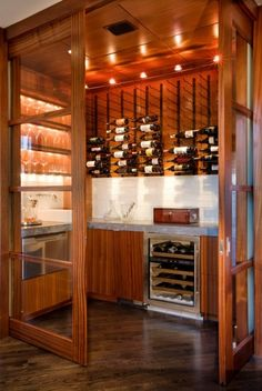 The home bar is where we uncork and unwine with friends and family. Great design…
