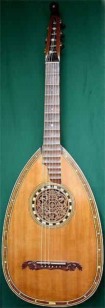 Early Musical Instruments, antique Lute Guitar by Anonymous 1920s