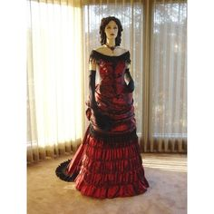 Victorian crimson red ball gown and other apparel, accessories and trends. Browse and shop 3 related looks.