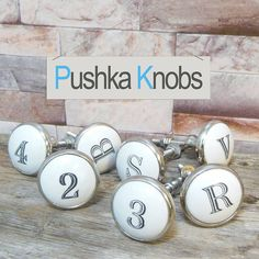 Alphabet Letters And Numbers Knob