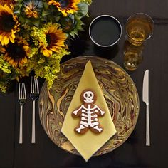 Skeleton gingerbread men for Day of the Dead