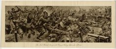 1915 LOOS Print BRITISH SCOTTISH SOLDIERS Division Battle Attack Charge S. WOOD