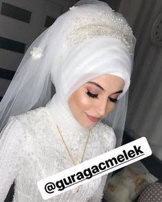 You can contact me at 05447280042 dem for contact . Bridal Hijab, Hijab Bride, Wedding Hijab, Wedding Dresses, Hijab Makeup, Bride Makeup, Wedding Makeup, Wedding Girl, Wedding Couples