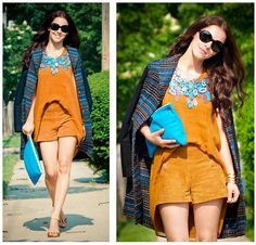 Blue & brown combination (by Veronica P) http://lookbook.nu/look/3638611-Blue-brown-combination
