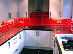 White Kitchen Red Tiles red brick kitchen wall tiles - google search | seville | pinterest