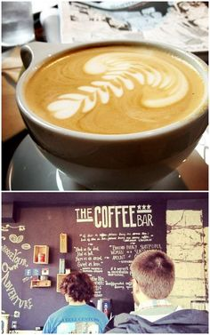 A delicious latte at The Coffee Bar at 12th & S in DC.