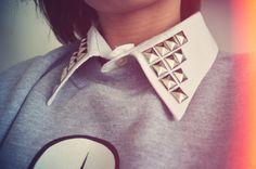 Studded Detachable Shirt Collar by dresslikeaunicorn on Etsy