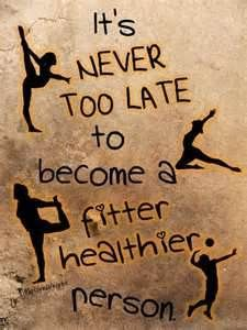 We can lose the weight. It's never to late to become healthier.