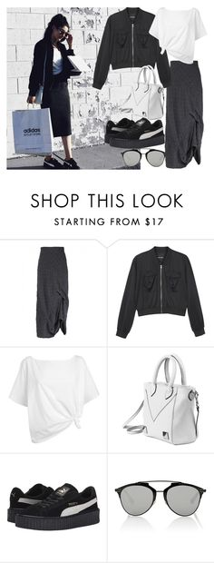 """instagram: florencia95"" by florencia95 ❤ liked on Polyvore featuring GRIZAS, Monki, Red Herring, Puma and Christian Dior"