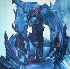 The nether regions of Hades Size: 100 x 100 cm, oil on canvas