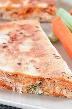 You NEED to make these buffalo chicken quesadillas for dinner!