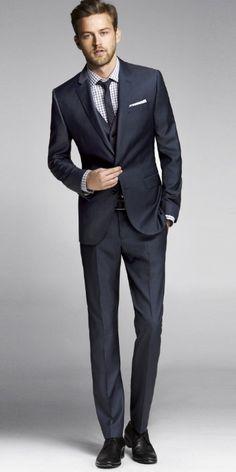 Navy Twill Photographer Suit, Express Men.