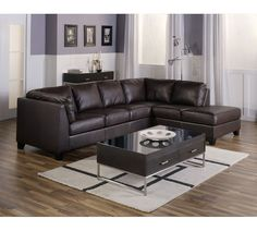 Palliser Como Sectional | Sofas and Sectionals in gray leather
