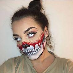 Crazy Halloween Makeup, Halloween Makeup Looks, Halloween Make Up, Creepy Makeup, Zombie Makeup, Haunted House Makeup, Horror Make-up, Special Effects Makeup, Fantasy Makeup