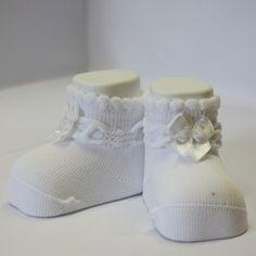 bianco nastrino raso_scarpine neonato-calzini neonati