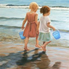 "Saatchi Online Artist: Amanda Jackson; Oil 2009 Painting ""Blue Buckets"""