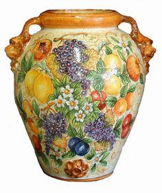 Ceramica toscana dipinta a mano Studio Chironi - www.ceramichechironi.it - vendita ceramica toscana, tavoli in ceramica, piatti e vassoi in ...