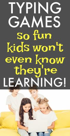 Free typing lessons for kids and typing games for fun learning activities for kids. #typing #free #lessons #homeschool